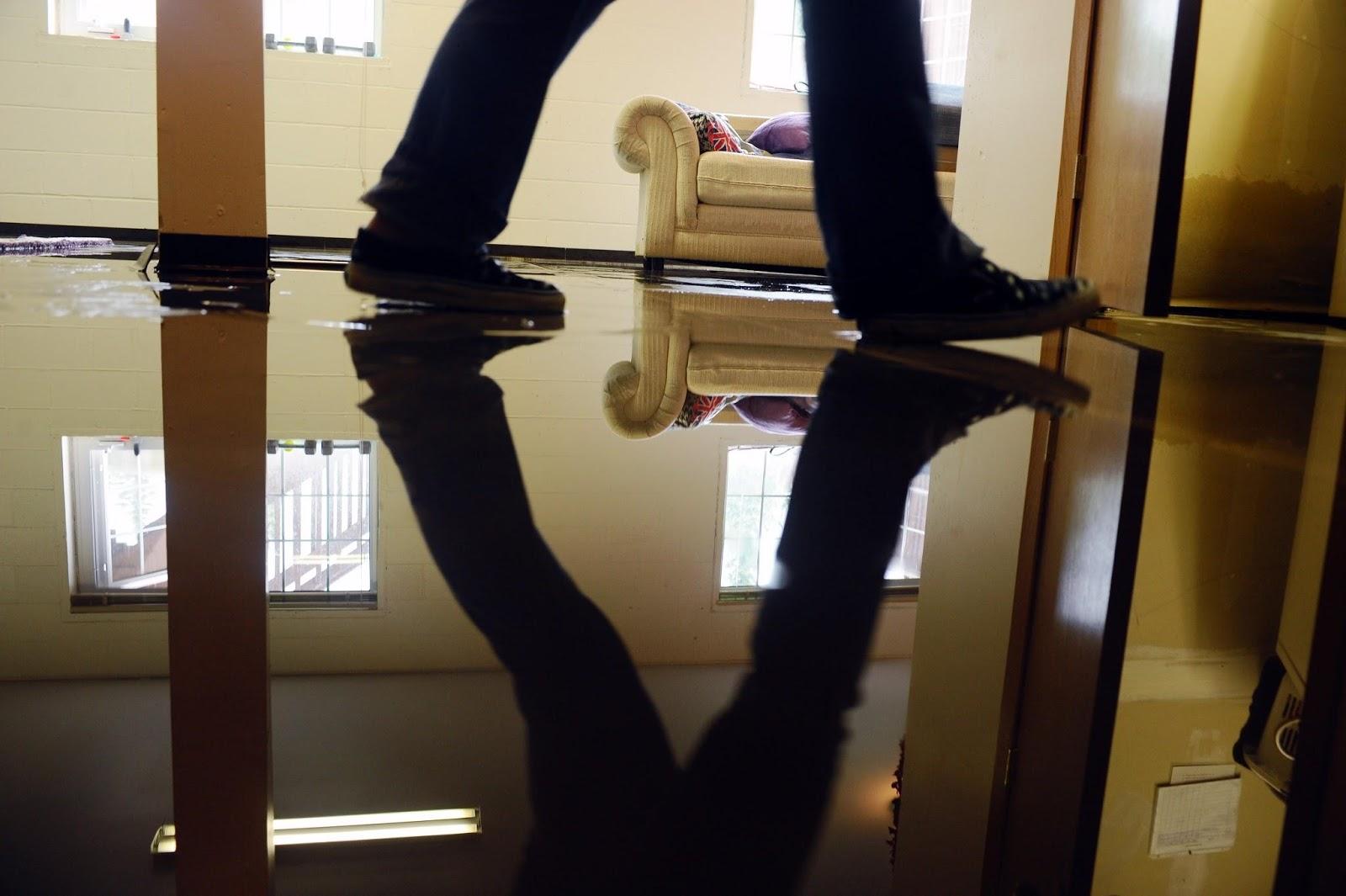 Vandskade på gulv